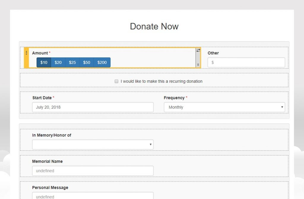 Causeview Impact lets you build the perfect online form for Salesforce.org
